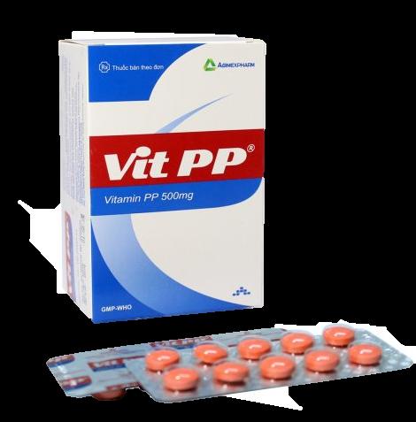 Thuốc Nicotinamide (Vitamin PP) - VitPP   Pharmog